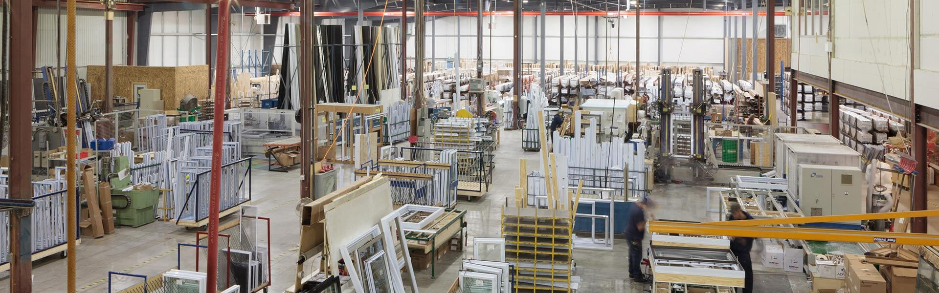 A RevoCell® window manufacturer building a window.