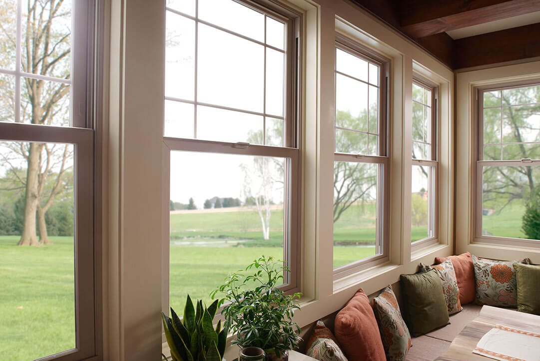 An interior view from a high efficiency window.