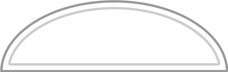 An example of an elliptical transom