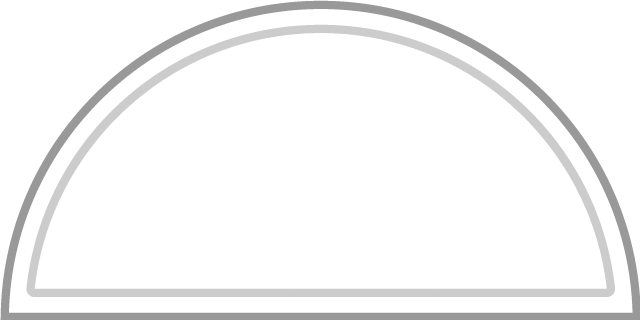 An example of a round / half-moon transom.
