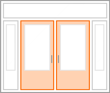 An image identifying the door slab of a standard Nordik Door.