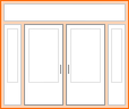 An image identifying the door frame of a standard Nordik Door.