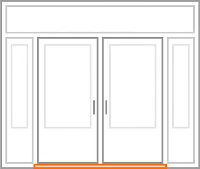 An image identifying the draft-proof threshold of a standard Nordik Door.