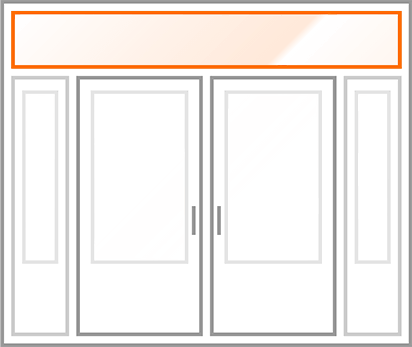 An image identifying the transom of a standard Nordik Door.