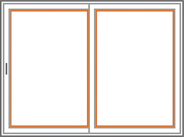 An image identifying the glass of a Nordik Patio Sliding Door.