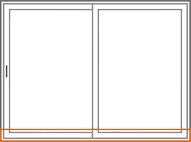 An image identifying the insulated welded sash of a Nordik Patio Sliding Door.