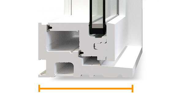 "Nordik casement windows feature a 4-1/2"" fusion-welded frame."