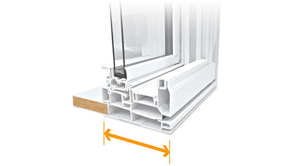 "Nordik double hung windows feature a 4-1/2"" fusion-welded frame."