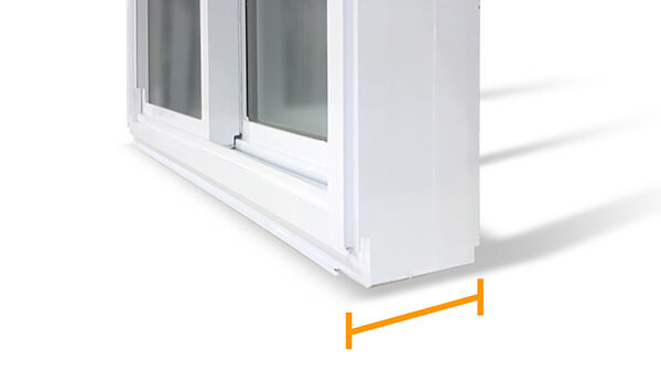 "Nordik double slider windows feature a 4-1/2"" fusion-welded frame."