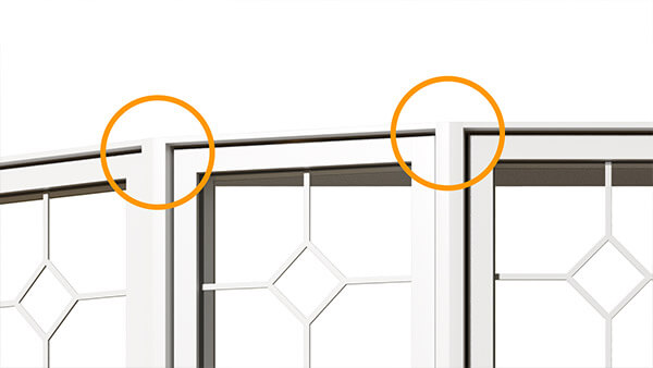 Nordik bay windows feature an exterior bay window angle mullion.