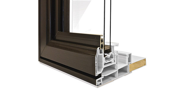 Nordik double slider windows feature durable standard colours with hybrid aluminium-PVC construction.