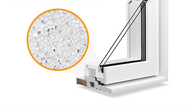 Nordik casement windows feature Microcellular PVC construction.