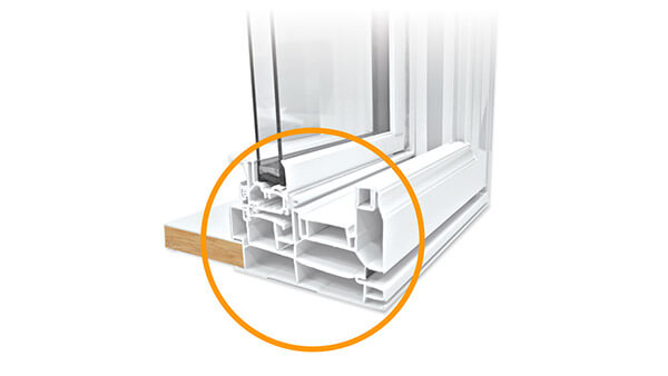 Nordik double slider windows features multi-chamber construction.