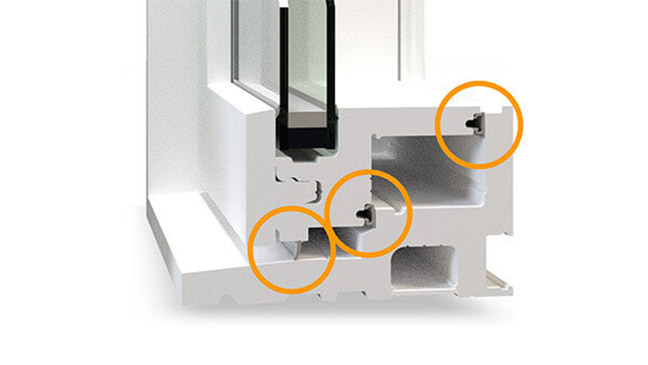 Nordik casement windows feature Triple weatherstripping.