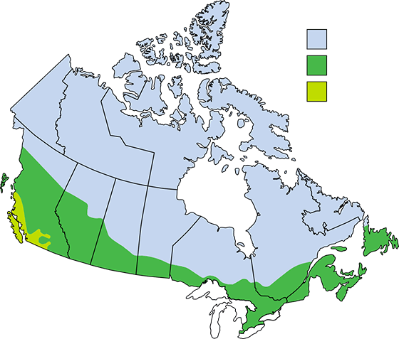 A map showing the Energy Start Rating Zones.