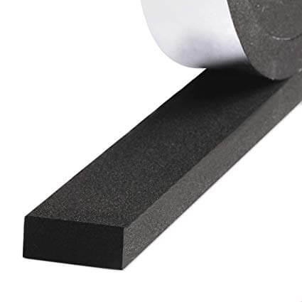 Foam peel-and-stick weatherstripping tape
