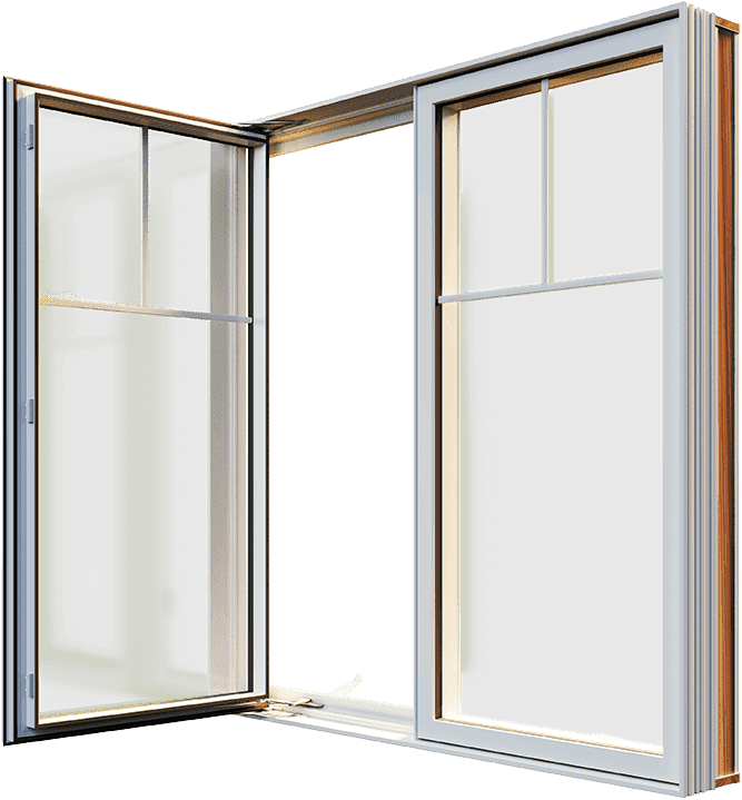 A partially opened RevoCell casement window