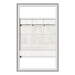 A classic double hung window that is open.