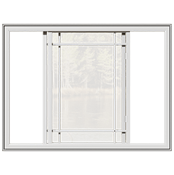 A classic double slider window that is open.