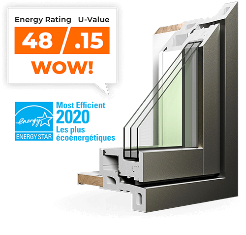 Our RevoCell replacement windows are Energy Star's Most Efficient 2020