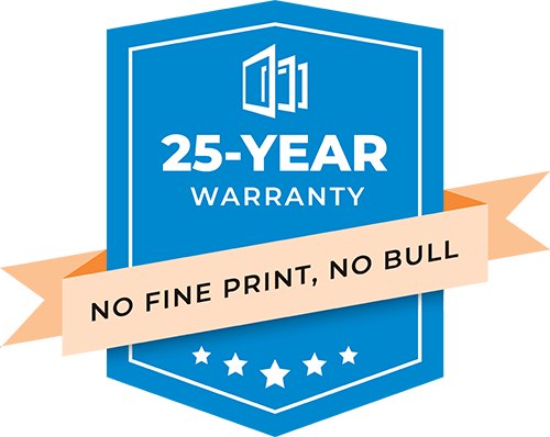 The No-Bull 25-Year warranty from Nordik Windows and Doors
