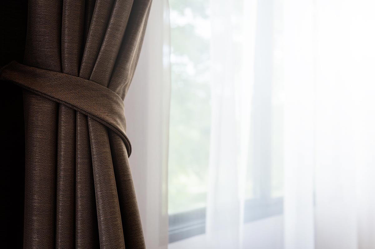 Window coverings can help to reduce noise.