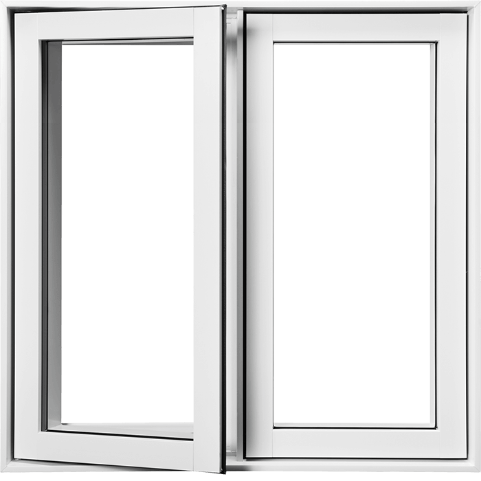 An image of a standard Nordik Casement window slightly open.