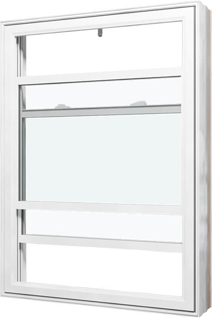 An image of a double hung window.