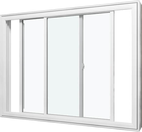 An image of a double slider window.