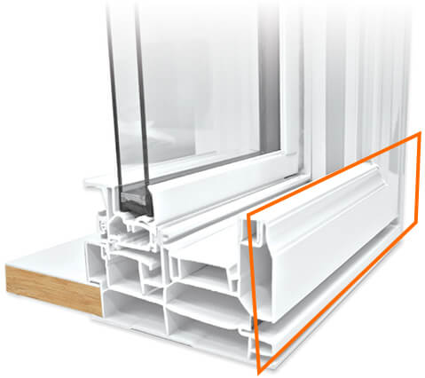 A Nordik double slider Window with a high-gloss finish