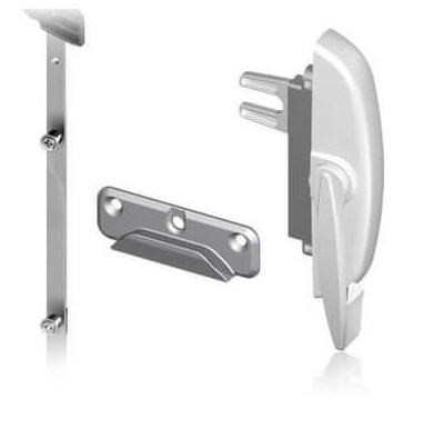 An example of the multi-point locking system that are available for Nordik awning Windows.