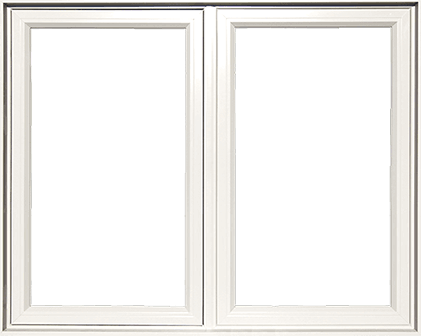 An example of a typical PVC casement window.