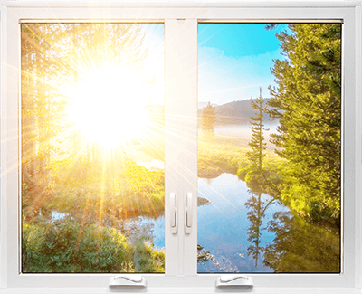 A RevoCell® Window with sunlight shining through.